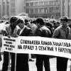 Гомельская дэлегацыя на мітынгу каля Дома ўраду. Мінск