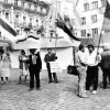 Пікет каля Дома Ўраду у Таліне.1990.05.15