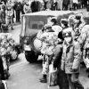 Акцыя падчас суда па справе Аляксея Шыдлоўскага і Вадзіма Лабковіча, люты 1998