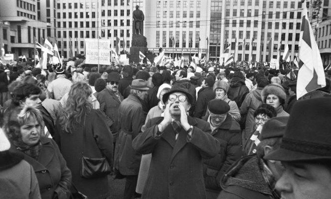 Антыкамуністычная акцыя, лістапад 1990 года