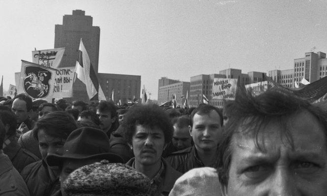 Перадвыбарчы мітынг 25.02.1990 года ў Мінску
