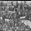 """19 лютага 1989 года, Мінск стадыён """"Дынама"""",  першы ў БССР дазволены ўладамі апазіцыйны палітычны мітынг."""
