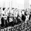 """""""Гадзіна смутку і маўчання"""", 26 красавіка 1989 года.  Мінск, Плошча Леніна, фота Уладзіміра Сапагова (1952-2012)."""