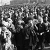 МІнск, красавік 1991 года, эканамічна-палітычныя пратэсты. Аўтар: Уладзімір Сапагоў.