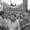 Год з дня абвяшчэння незалежнасці Беларусі. Мітынг на плошчы Незалежнасці