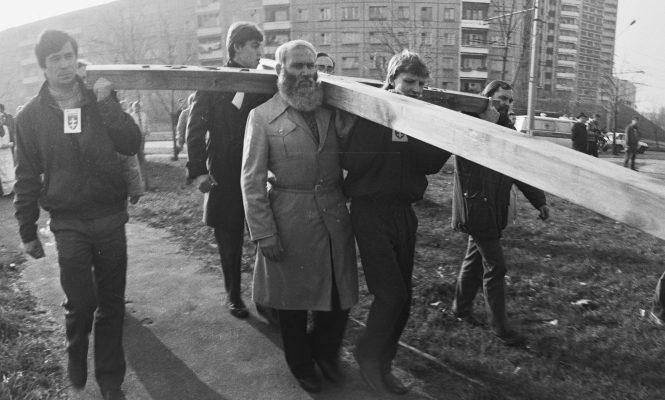 Дзяды, 29 кастрычніка 1989 году, фота Уладзіміра Сапагова