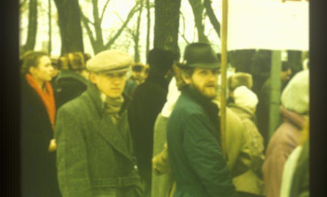 20 сакавіка 1988, Мінск, мітынг у абарону Верхняга Горада