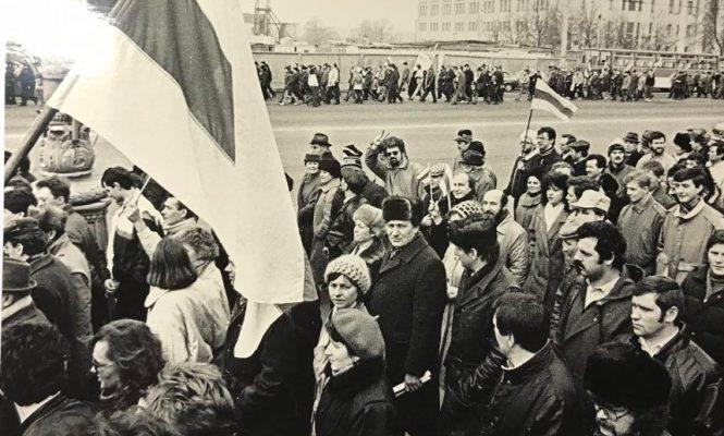 7 лістапада 1990 года Мінск, антыкамуністычная акцыя